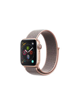 Apple Watch Series 4, Gps, 40mm Gold Aluminium Case With Sport Loop, Pink by Apple