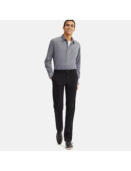 Men Slim Fit Windproof Chino Trousers (L34) by Uniqlo