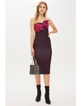 Bow Twist Midi Dress by Topshop