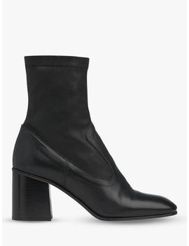 Whistles Vittoria Sock Ankle Boots, Black by Whistles