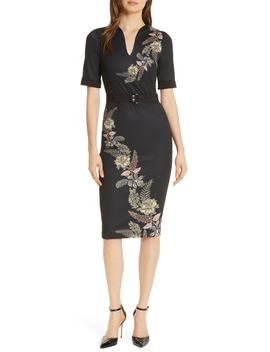Dollila Pirouette Body Con Midi Dress by Ted Baker London