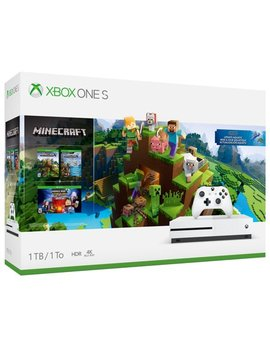 Microsoft Xbox One S 1 Tb Minecraft Bundle, White, 234 00506 by Microsoft