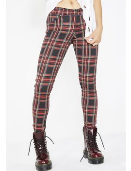 Plaid T Back Skinny Jeans by Tripp Nyc