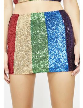 Retro Brilliance Sequin Skirt by Bear Dance