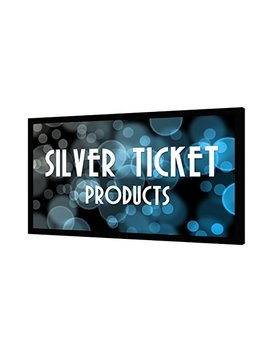 "Str 169120 G Silver Ticket 4 K Ultra Hd Ready Cinema Format (6 Piece Fixed Frame) Projector Screen (16:9, 120"", Grey Material) by Silver Ticket Products"