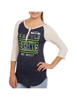 Nfl Juniors Seahawks Long Sleeve Triblend Tee by Licensed