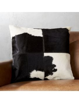 "18"" Abele Spotted Cowhide Pillow by Crate&Barrel"
