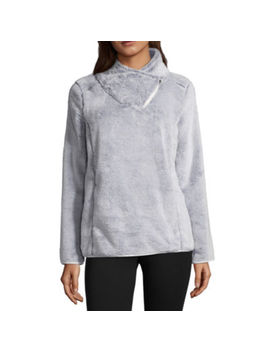 St. John's Bay Active Asymmetrical Zip Plush Pullover by Sjb Active