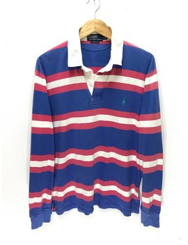 Polo Ralph Lauren Vintage Rare Multi Colour Stripes Hip Hop Polo Rugby Shirt by Etsy