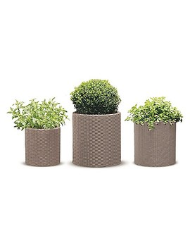 Keter® Cylinder 3 Piece Indoor/Outdoor Planter Set by Bed Bath And Beyond