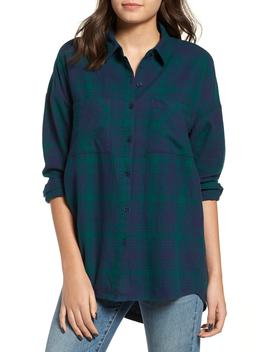 Plaid Flannel Cocoon Shirt by Bp.