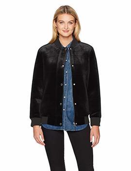 Members Only Women's Velvet Bomber Jacket by Members Only