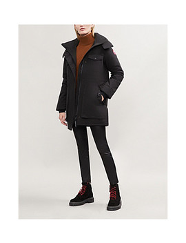 Blakely Feather And Shell Down Parka Coat by Canada Goose
