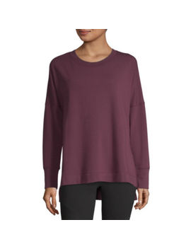 Xersion Cozy High Slit Tunic Sweatshirt by Xersion