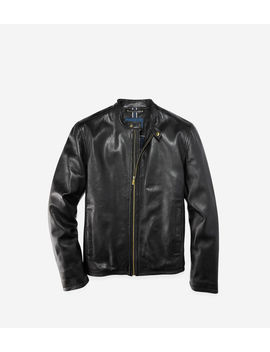 Smooth Lamb Moto Jacket by Cole Haan