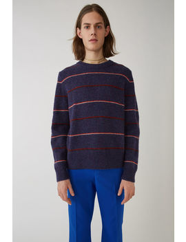 Striped Sweater Plum/Red by Acne Studios