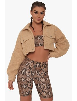 Delilah Sherpa Jacket by Honeybum