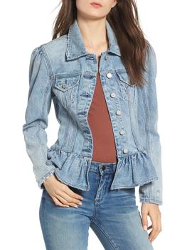 Situationship Denim Peplum Jacket by Blanknyc Denim