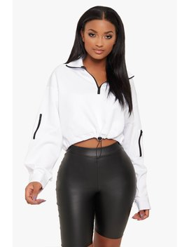 Gym Time Zip Up Pullover by Honeybum