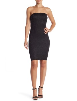 Strapless Lace Zip Dress by Jump