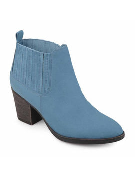 Journee Collection Womens Sero Bootie Stacked Heel Pull On by Journee Collection