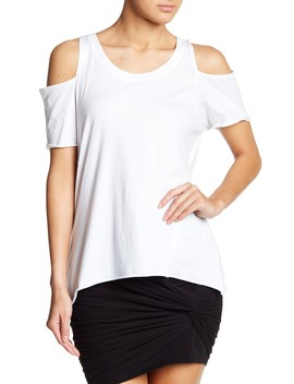 Scoop Neck Cut Tee by L Amade