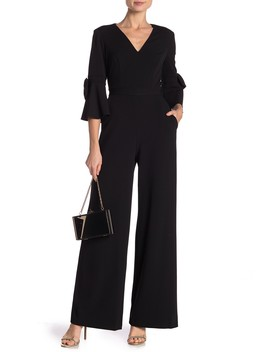 Bell Sleeve Jumpsuit by Donna Morgan