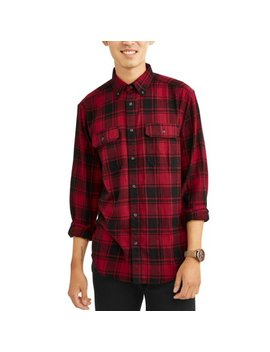 Men's Long Sleeve Flannel Shirt, Up To 5 Xl by George