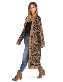 Wild Statement Long Cardigan by Windsor
