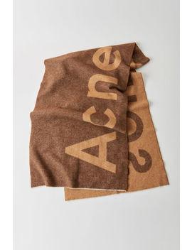 Logo Schal Braun by Acne Studios