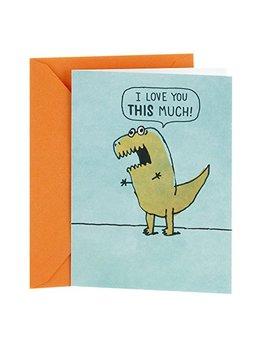 Hallmark Shoebox Funny Love Greeting Card (Dinosaur Arms) by Hallmark
