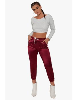 Stance Satin Track Pants by Honeybum