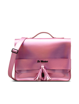 "13"" Iced Metallic Leather Satchel by Dr. Martens"
