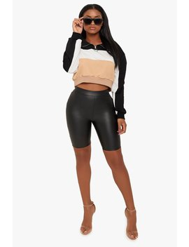 Feeling Classy Leather Biker Shorts by Honeybum
