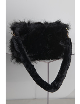 High And Low Faux Fur Purse by Akira