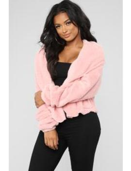 Keep Me Company Jacket   Dusty Pink by Fashion Nova