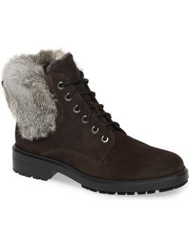 Lacy Genuine Shearling Lined Boot With Genuine Rabbit Fur Trim by Aquatalia