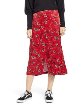Floral Midi Skirt by Treasure & Bond