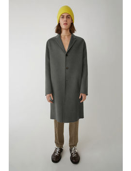 Oversized Coat Medium Grey Melange by Acne Studios