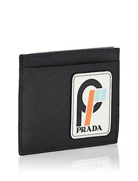 Logo Leather Card Case by Prada