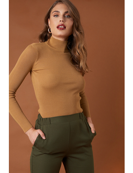 Ribbed Polo Knitted Sweater by Na Kd Trend
