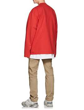 Logo Cotton Oversized Long Sleeve T Shirt by Vetements