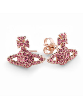 Vivienne Westwood Grace Rose Gold Tone Earrings by Beaverbrooks