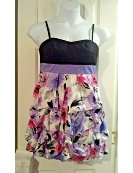 Pre Owned~A Byer~Jr's/Woma<Wbr>N's Spaghetti Strap Floral Bubble Style Dress Sz 11 by Byer California