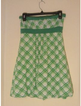 Chesley Girls Size Medium Green And White Bubble Dress by Chesley