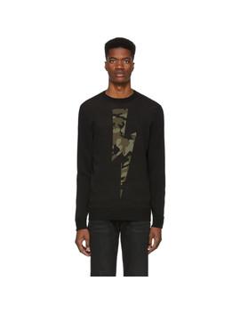 black-camo-lightning-bolt-sweater by neil-barrett