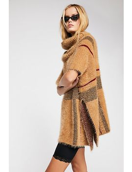 Alpine Plaid Poncho by Free People