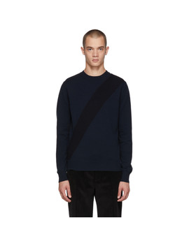 Navy Knit Crewneck Sweater by Stella Mccartney