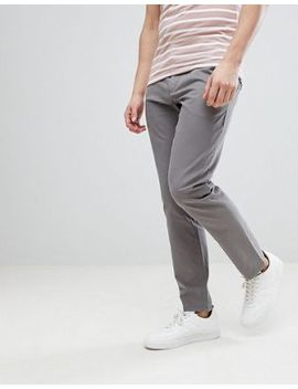 Kiomi Slim Fit Chino In Grey by Kiomi