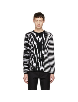 Black & White Animal Striped Sweater by Givenchy